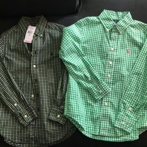 Boys long sleeve button up shirts